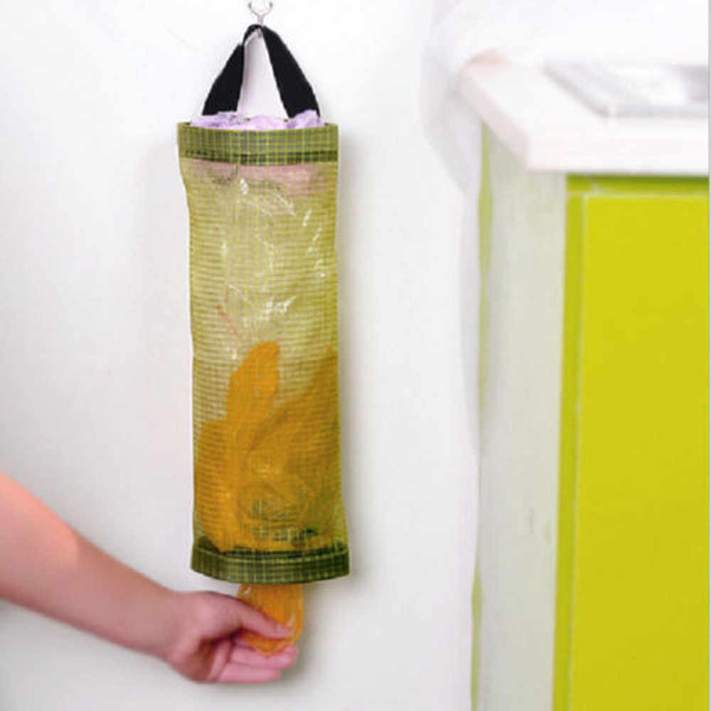 Home Portable Reusable Grocery Bag Holder Wall Mount Storage Dispenser Plastic Kitchen Organizer Two Colors new 2019 #LC