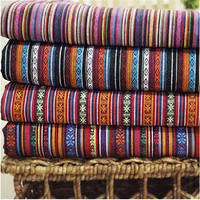 2015 Hot Polyester Cotton Fabric Ethnic Decorative Fabrics For Sofa Cover Cushion Cloths Curtains Sale For