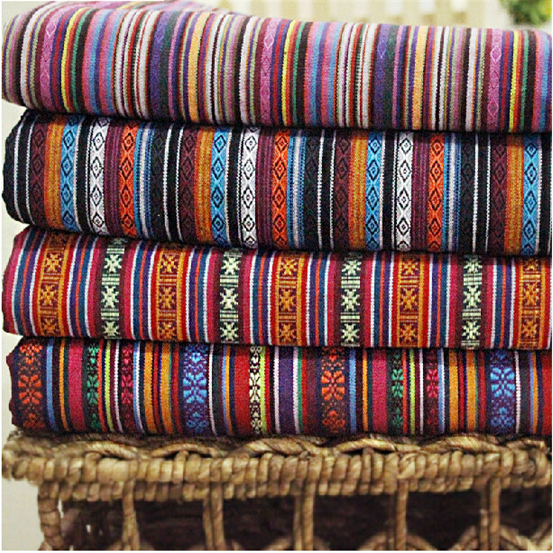 2016 hot polyester cotton fabric ethnic decorative for Fabric couches for sale