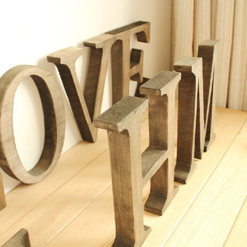 The Price Is For One Letter Not One Word, Personalized Wooden Name Plaques Word Letters Wall Door Art Wedding Photo