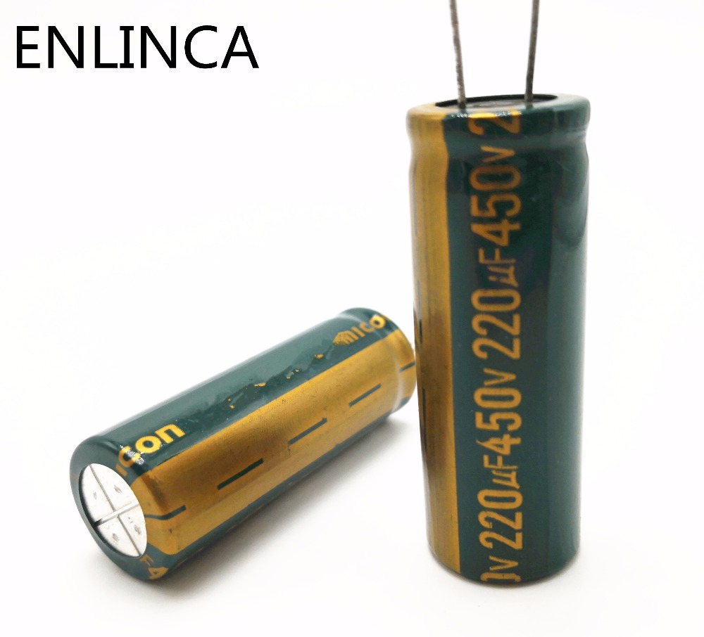 6-18pcs/lot 450v 220UF high frequency low impedance 450v220UF aluminum electrolytic capacitor size 18*50MM 20% RB92A6-18pcs/lot 450v 220UF high frequency low impedance 450v220UF aluminum electrolytic capacitor size 18*50MM 20% RB92A