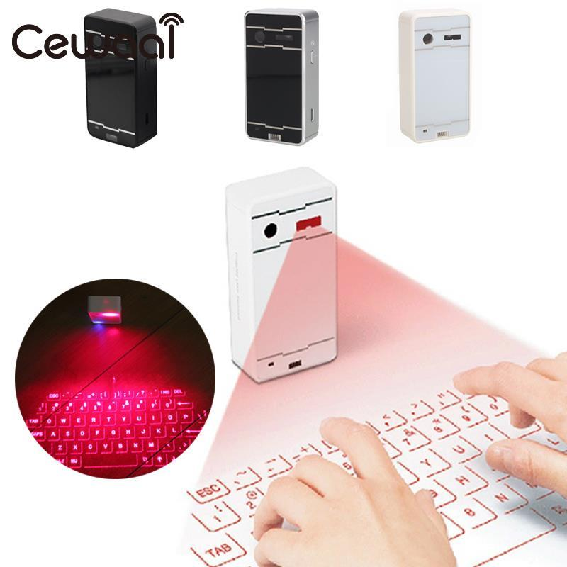 Cewaal Bluetooth Wireless Mini Portable Laser Virtual Projection Keyboard for Android Smart Phone Tablet PC Notebook ice crusher snow ice shaving machine manual home use sweet summer ice food making machine ice crushing machine zf