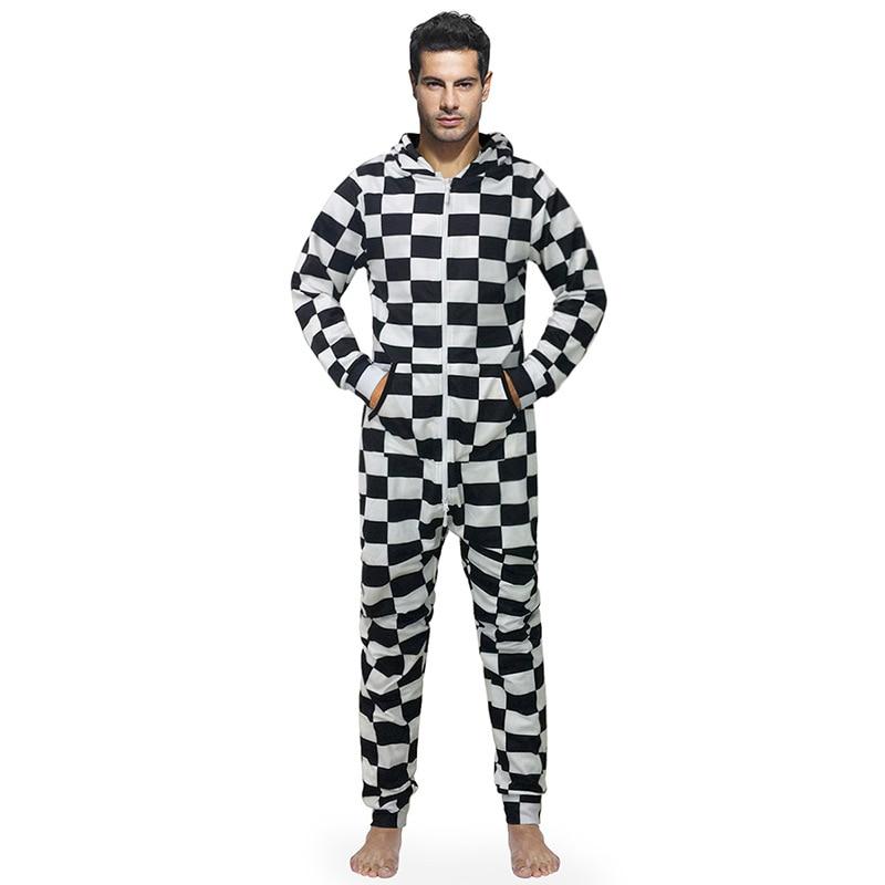 f57c78e16d New Arrival Piżamy Mężczyzn Onesies Z Kapturem Mężczyzna Kombinezony Z  Kapelusz Luźne Casual Style 3d Druku