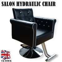 Shellhard Adjustable Classics Soft Barber Salon Chair Hydraulic Chair Hairdressing Styling Furniture Black