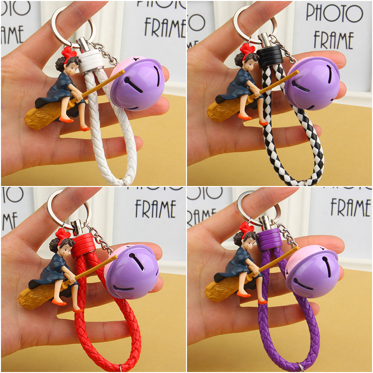2017 New Cute Kiki's Delivery Service Kiki Doll Japanese animation Action Figure For Keyrings Key Chains Holder Purse Bag 10cm spider man japanese anime lovely swing doll cute black panther mobile phone holder shaking head action