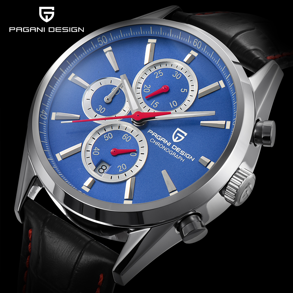 PAGANI DESIGN Men Watches Luxury Brand Man Waterproof Sport Military Quartz Watch Men Fashion Business Clock relogio masculino weide popular brand new fashion digital led watch men waterproof sport watches man white dial stainless steel relogio masculino