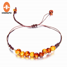 EAST WORLD Natural Amber Bracelet for Baby Women with Turquiose Amethyst Strand Baltic AmBracelets Handmade Jewelry
