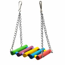 Traumdeutung Bird Toys Parrot Love swing Standing Perch for Budgies Parakeet Cockatiel Parrot Cage Hammock Toy jouet perroquet(China)