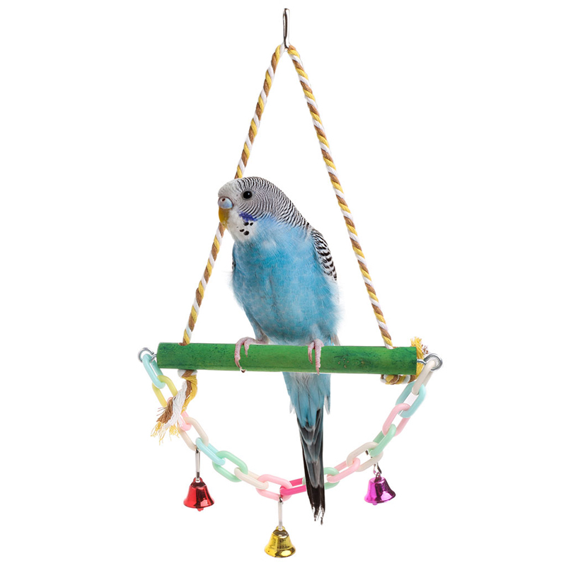 Bird Toys Well-Educated 1 Pc Pet Products Bird Pet Parrot Parakeet Budgie Cockatiel Cage Hammock Swing Toys Hanging Pet Products