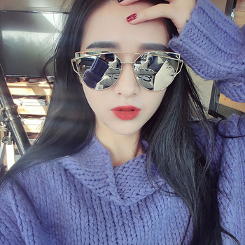 2016 new cat eye sunglasses women vintage fashion rose gold mirror sun glasses unique flat ladies.jpg 350x350