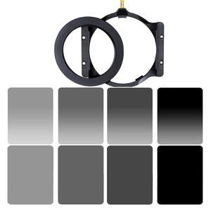 Walking Way 150*100mm square ND filter kit set Neutral Density ND2 ND4 ND8 ND16 filter holder & 67/72/77/82/86mm adapter ring