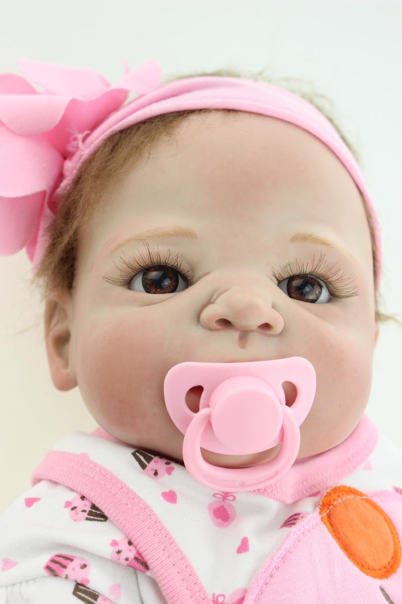 57CM Reborn Baby Dolls Kid's Gifts Toys Simulation Doll Girl Princess Dolls Accompany Baby Shower Doll Birthday Christmas Gifts 55cm high quality reborn dolls baby simulation baby doll eyes will move to accompany sleep doll baby toys