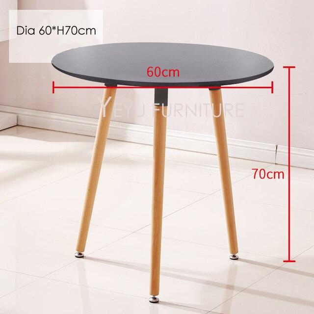 Diseño moderno minimalista pequeña tapa redonda de MDF con mesa de ...