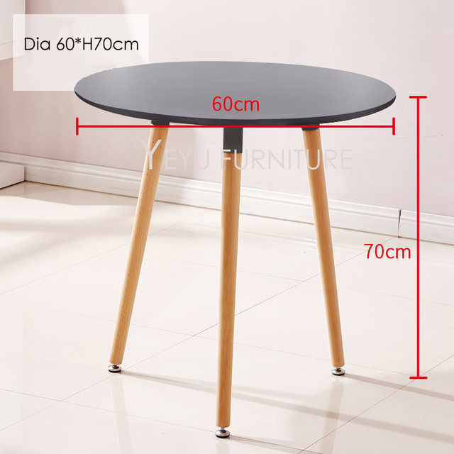 Minimalist Modern Design Small Round MDF Top With Solid Wood Leg Dining  Table Small Modern Furniture Table Side Table Cafe Table