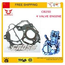 t  xt250 t6 KAYO BSE Dirt pit Bike ATV quad Parts accessories ZONGSHEN CB250 250CC 4 Four Valve Water Cooled Engine Gaske