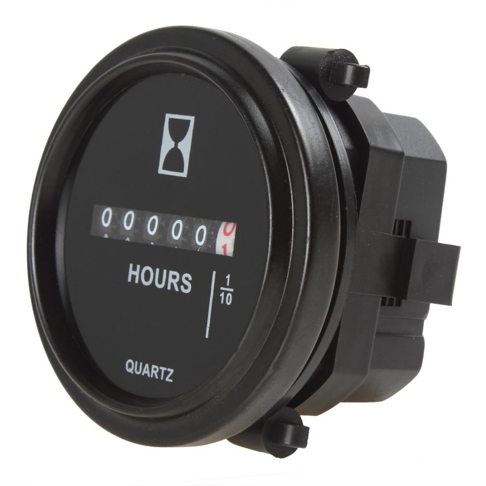 US $9 61 21% OFF Hot Sale!2 Inch DC 8 80V Round Hour Meter Industrial  Electronic Mechanical Timer for for Race Cars / Fork Lifts / Trucks /  Boats-in