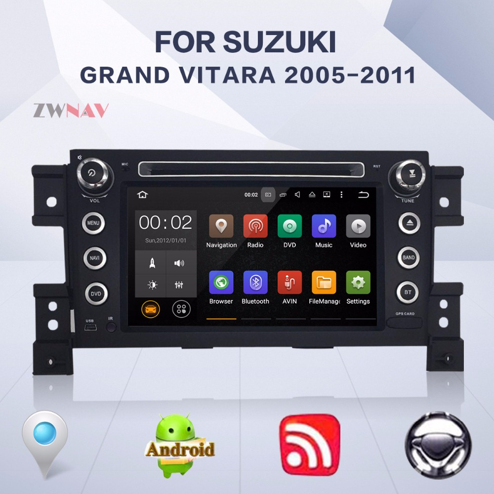 все цены на Android 8.0 8 Core 4+32GB 2 DIN Car DVD Player GPS Navigation For Suzuki Grand Vitara 2005-2011 Radio Free Map And Camera онлайн
