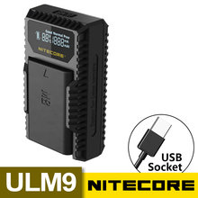 Hot Nitecore ULM9 USB Travel Charger For Leica BLI-312 Batteries Leica Camera BM8 M8 M8.2 M9 M9-P M-E