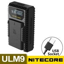 Hot Nitecore ULM9 USB Travel Charger For Leica BLI-312 Batteries Leica Camera BM8 M8 M8.2 M9 M9-P M-E