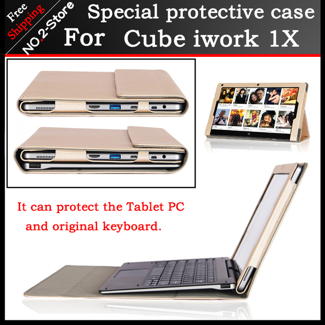 Original Business stand Pu leather case For Cube iwork1X 11.6 inch tablet PC,Fashion keyboard Protective sleeve For Cube iwork1X