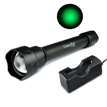 UniqueFire High Quality UF Flashlight 1501-XRE Zoom 3 Modes 38mm Focus Lens Green Light For Outdoor Sport,Hunt,Camp