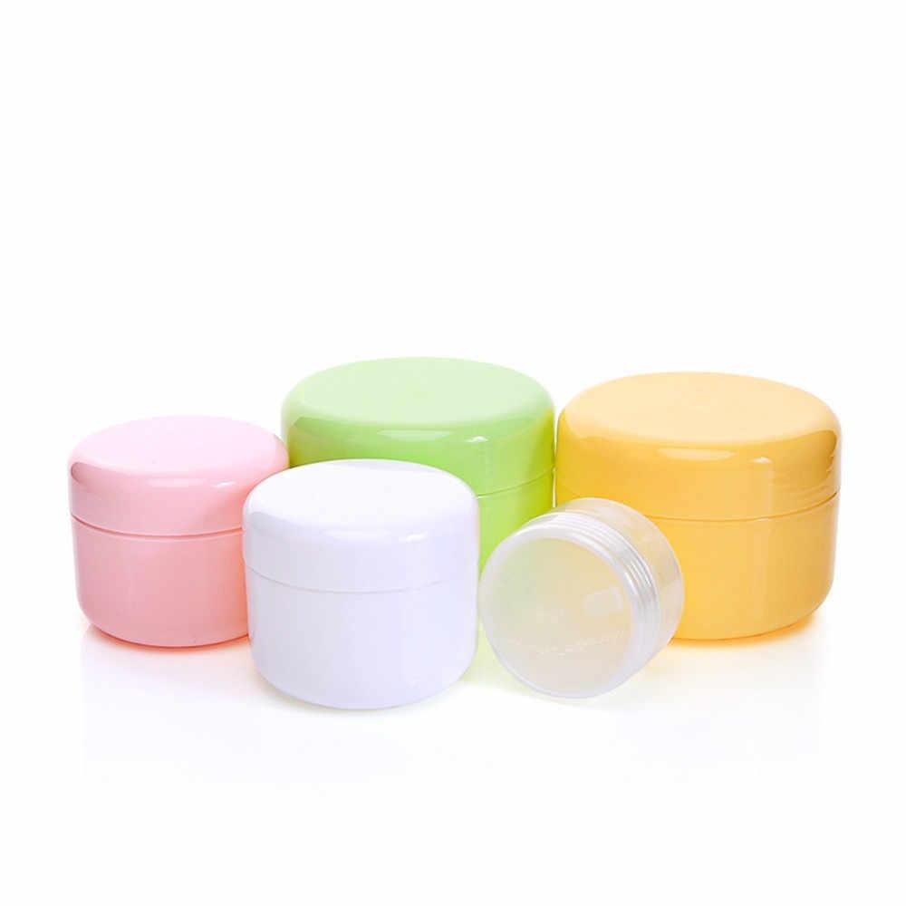 1 Pc 50g Garrafas Reutilizáveis De Plástico Vazio Maquiagem Panela de Viagem Rosto Creme/Loção/Recipiente Cosmético Viagem acessórios