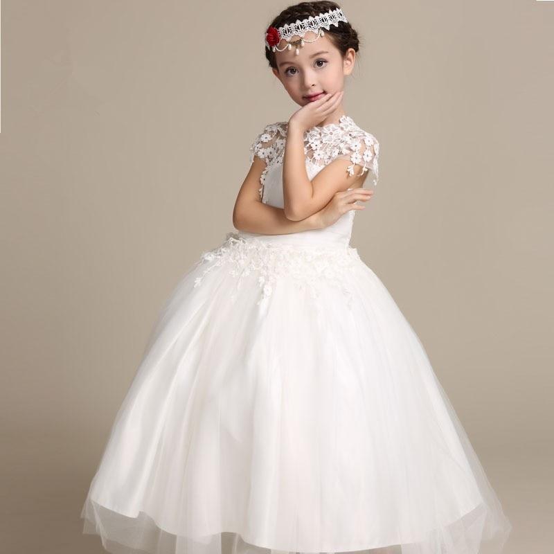 Elegant Flower Girl Dress Long Lace Princess Dresses Kids ...