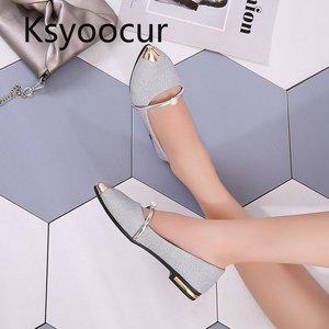 Image 4 - ماركة Ksyoocur 2020 ربيع جديد السيدات حذاء مسطح أحذية النساء غير رسمية مريحة أشار تو حذاء مسطح 18 012
