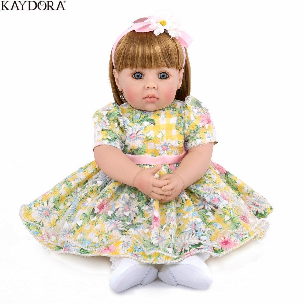 KAYDORA Adorable poupée princesse 50 CM Reborn Silicone souple Reborn bébé poupées réaliste boneca Reborn jouets éducatifs précoces