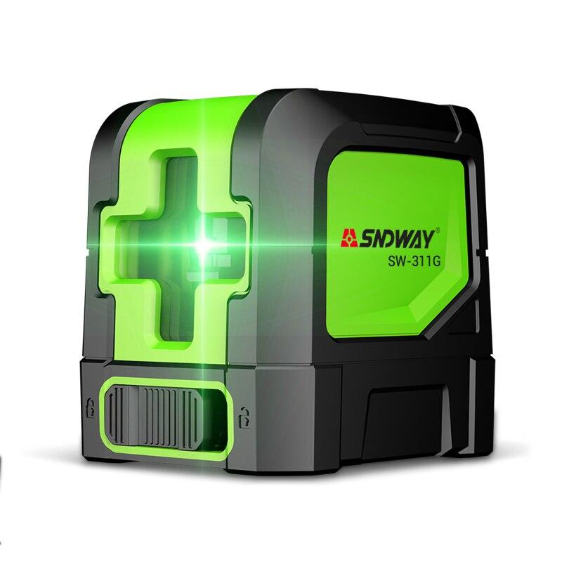 SNDWAY laser level Green 2 lines self leveling laser Leveler Vertical Horizontal Cross laser red beam