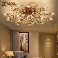 Цветок лотоса современный потолочный светильник с Стекло абажур Gold потолочный светильник для Гостиная Спальня lamparas де techo abajur