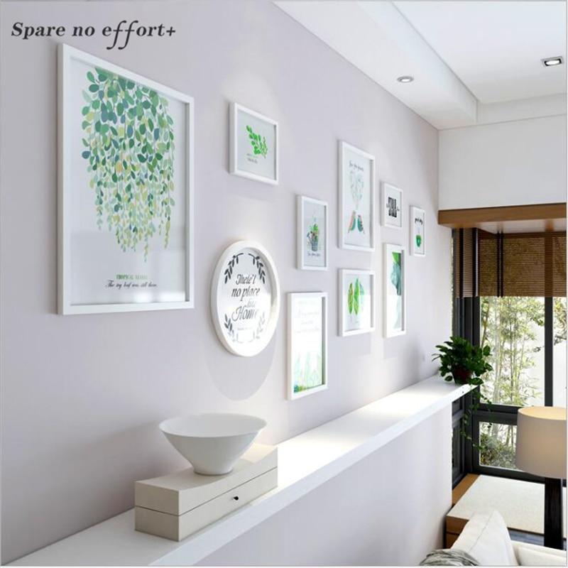 10 piezas Inicio/Oficina Decoración de la pared marco de madera ...