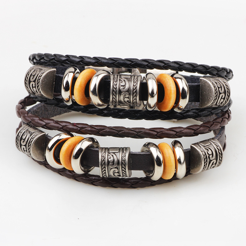 Tiger Totem 19 colors leather rope hand woven bracelets sex men women braided bracelets male female bracelets Jewelry Free post