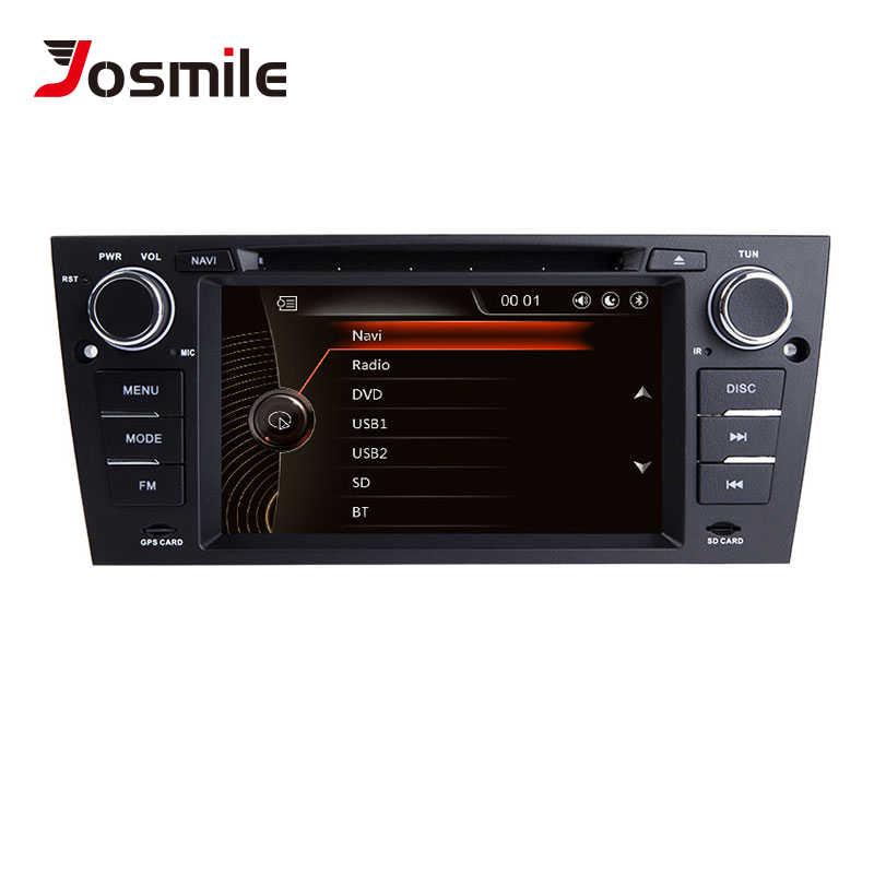 Josmile 1 reproductor de DVD de coches DIN para BMW E90/E91/E92/E93 2005 Serie 3 Radio Multimedia para coche sistema de navegación GPS unidad principal de Audio 3G
