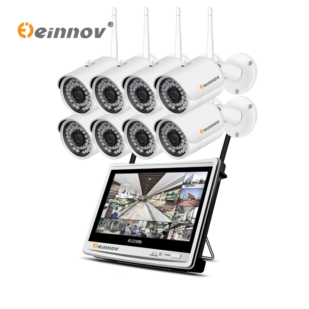 Einnov 8CH NVR CCTV Wifi Kit Video Surveillance Camera IP 8CH 1080P HD Wireless Security Camera System Home P2P Night Vision