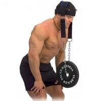 Pescoço de músculos de cabeça de treinamento com correntes de barra