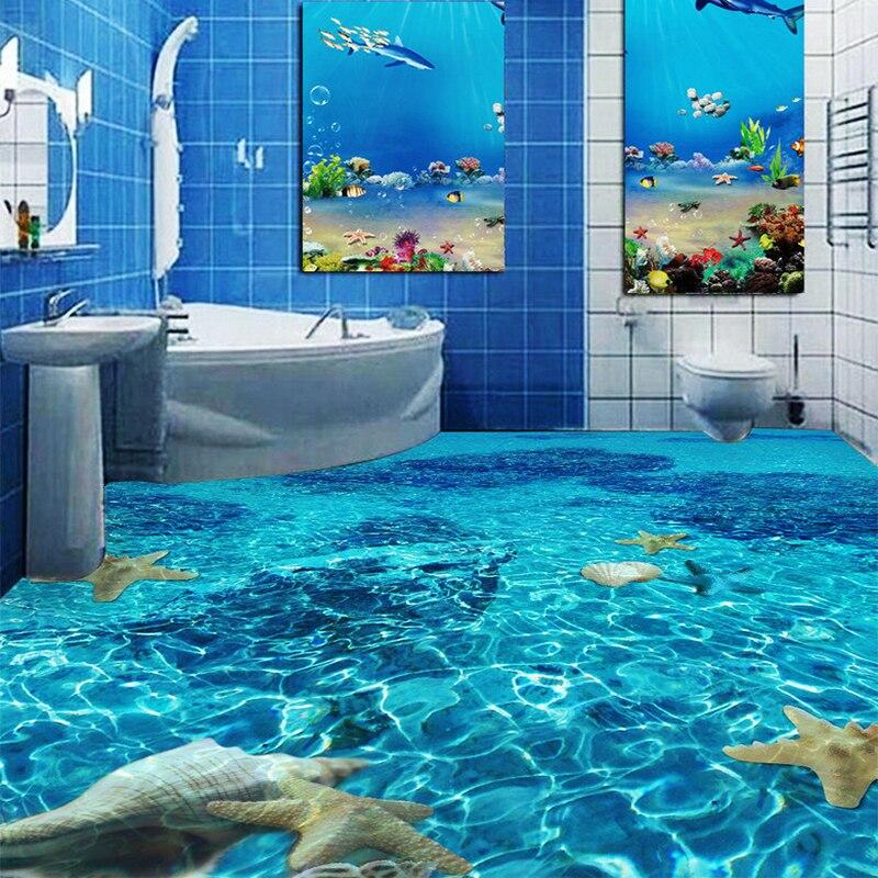 Clear Pool Water Wallpaper aliexpress : buy custom self adhesive floor mural wallpaper 3d