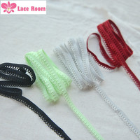 1 Meter 1cm wide Wood ear elastic rubber band Stretch lace trim Dark red/Black DIY underwear accessories