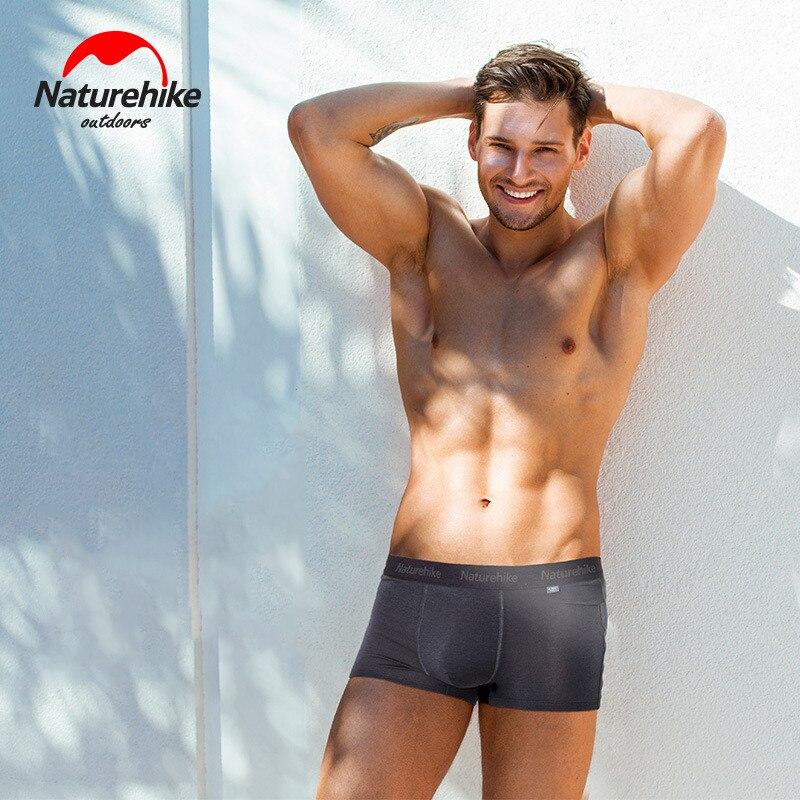 Naturehike Sports Underpants Quick-drying Man's Underpants Breathable Elastic Man Underpant Silver Ions Trunks Swim Running