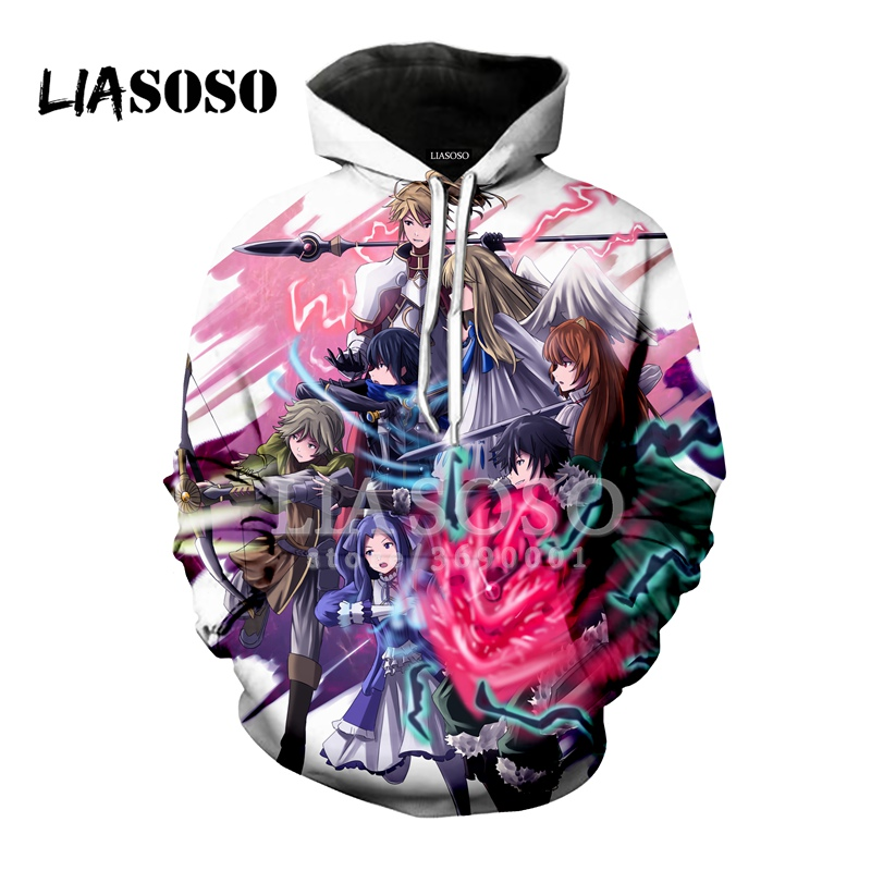 LIASOSO 3D Print Women Men Japan Anime Tate No Yuusha Hooded Hoodies Sweatshirts Pullover Harajuku Hip Hop Outwear X2021-in Hoodies & Sweatshirts from Men's Clothing on AliExpress - 11.11_Double 11_Singles' Day 1