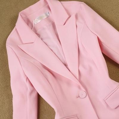 Moda set Profissional mulheres pant ternos temperamento moda Senhora Do Escritório blazer de manga longa com calças plus size desgaste do trabalho - 2