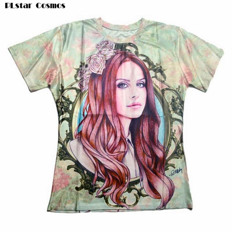 PLstar Cosmos Harajuku t-shirt Sexy Lana Del Rey Print 3d t shirt women/men Fashion tee tops camisetas mujer plus size S-3XL