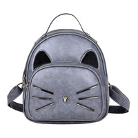 PU Leather Backpack Women Backpacks School Bags For Teenage Girls Cartoon Cute Cat Printed Mochilla Cat
