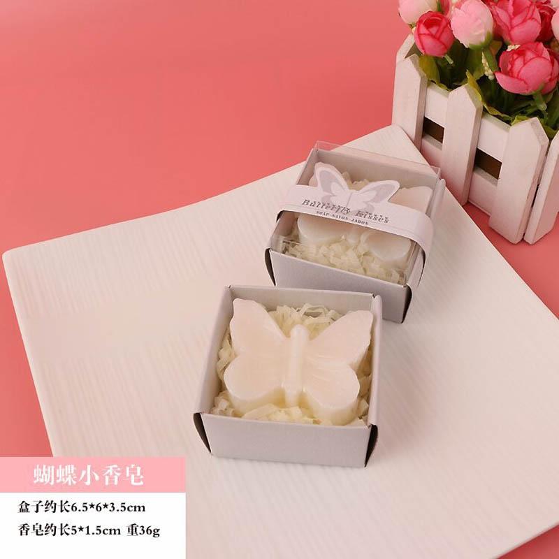 20 шт./лот мини-мыло ручной работы с ароматом для сувенир для свадебной вечеринки и детского душа подарок Свадебные сувениры Мыло для купания - Цвет: white butterfly