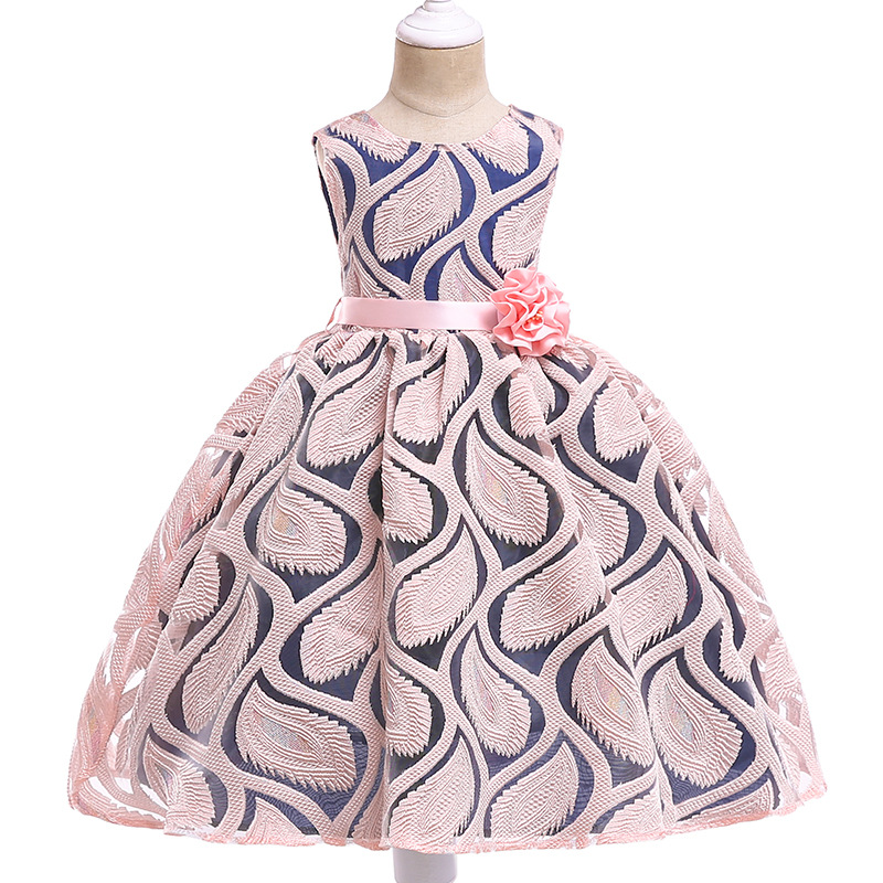 New Children 39 s Clothing Summer Flower Lace Embroidery Tutu Dress 3 7 Years Hot Pink Dress For Girls Party Wedding Kids Evening in Dresses from Mother amp Kids