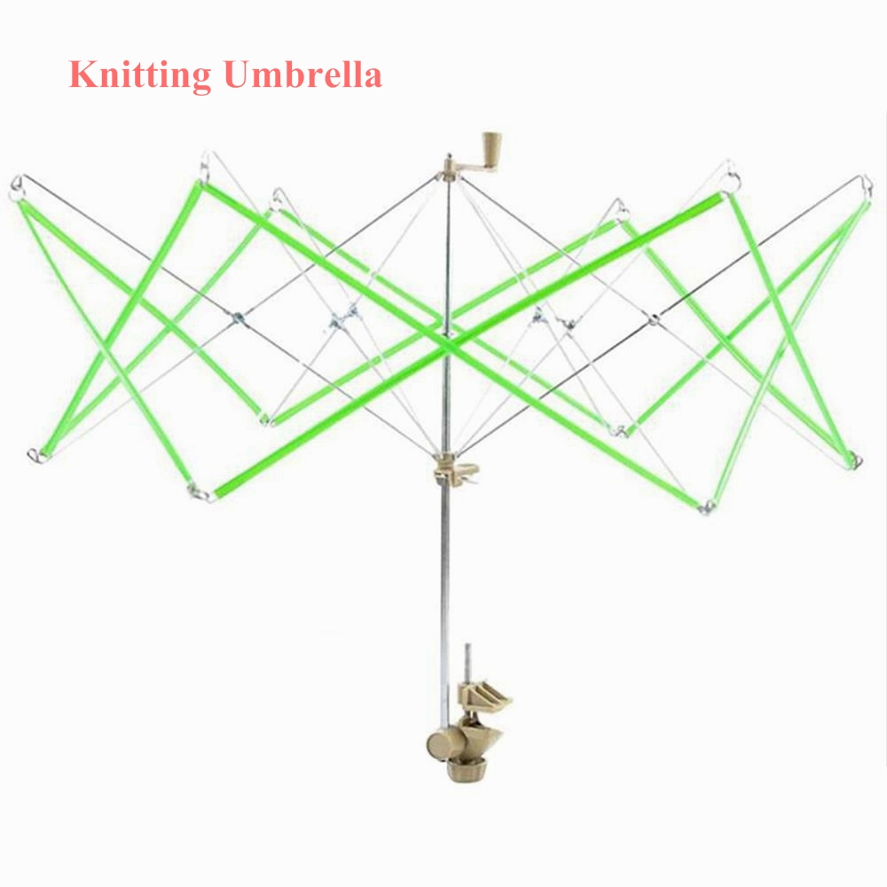 1pcs Knitting Umbrella Swift Wool Yarn String Winder Holder Hand-Operate Hanks Skeins Line Knitting Crochet Craft Tool Drop Ship