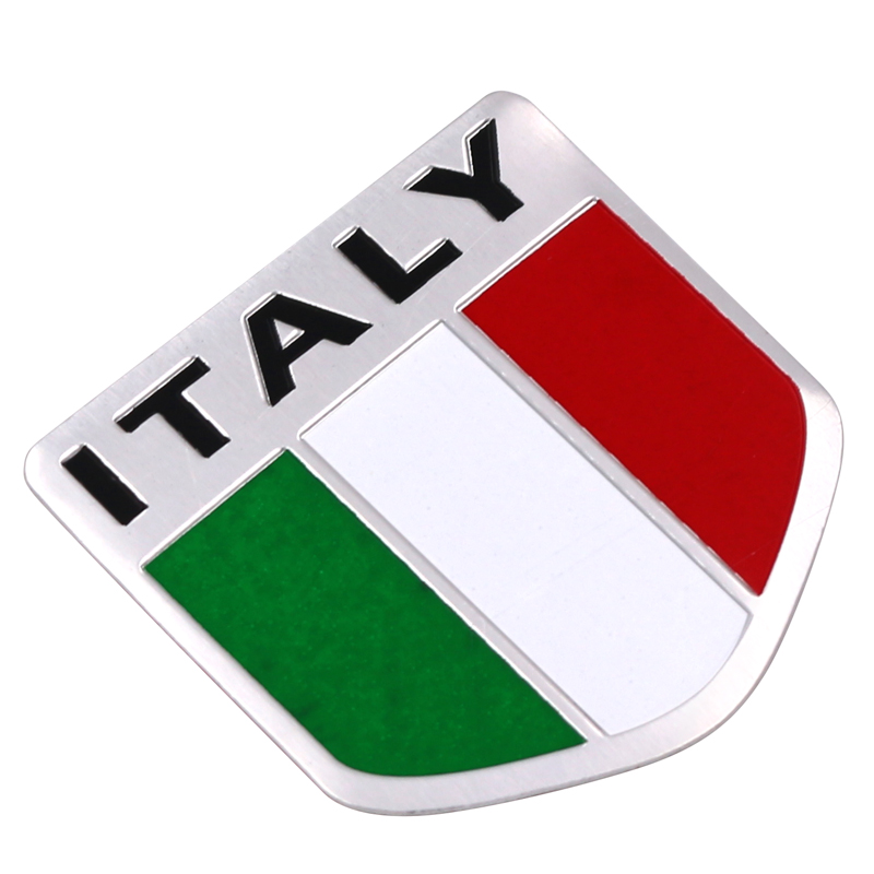 Car Motorbike Alloy Metal 3D Emblem Badge Racing Decals Sticker For ITALY Italian United States France Map Flag Car Accessories