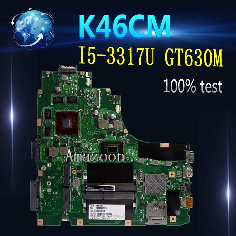 Amazoon K46CM scheda madre Del Computer Portatile per ASUS A46C S46C K46CB K46CM K46C K46 Prova mainboard originale I5-3317U GT630MAmazoon K46CM scheda madre Del Computer Portatile per ASUS A46C S46C K46CB K46CM K46C K46 Prova mainboard originale I5-3317U GT630M