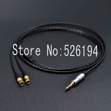 Free shipping 2m 3.5mm Hi-end HIFI 4 Cores 5n Pcocc copper Headphone Upgrade Cable for Hifiman He-5 He-6 He-400 He-500 He560