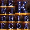 Letra Do Alfabeto de A-M Lâmpadas LED Lâmpada Luz Up Decoração Símbolo DA PAREDE Interior Decoração da Festa de Casamento de Exibição Da Janela de Luz